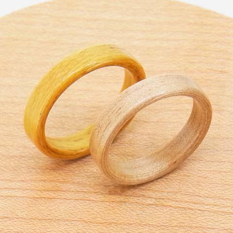 木の指輪 細い
