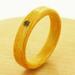 誕生石を入れた曲木の指輪