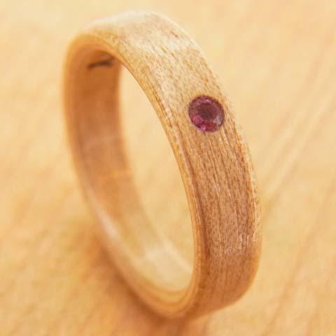 ピンクトルマリンの指輪
