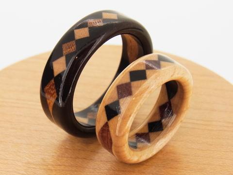 木の指輪 黒タン