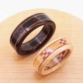 ミンサー織 指輪