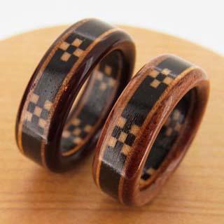 ミンサー織の指輪 沖縄