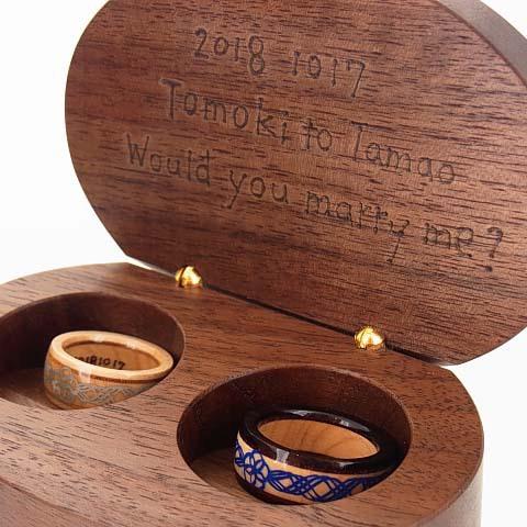 木の指輪 未来 青