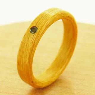 ブルートパーズの指輪