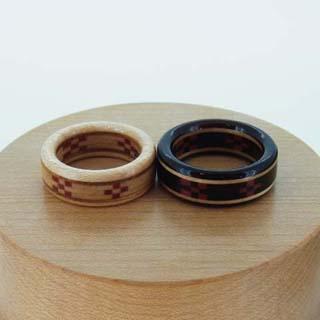 沖縄 八重山 ミンサー織の指輪