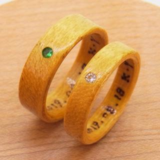 ダイヤモンドとエメラルドの指輪
