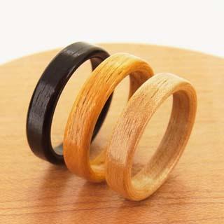 曲木の指輪の木材