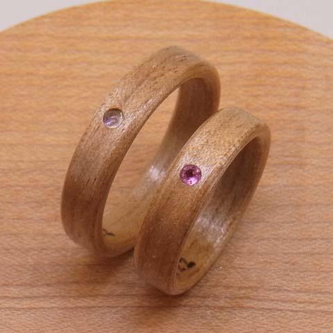 宝石を入れた指輪幅感