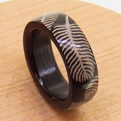 銀 シルバー 木 指輪